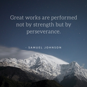 Great works are performed not by strength but by perseverance.