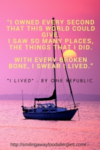 """""""I owned every second that this world could give. I saw so many places, the things that I did. With every broken bone, I swear I lived."""""""